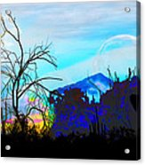 I Am And You Are The Moonset  Acknowledging And Accepting Our Past Mistakes- Autumn 1 Acrylic Print
