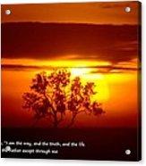 I Am The Way John 14-6 Acrylic Print