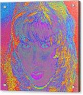 I Am Woman Acrylic Print by Elizabeth S Zulauf