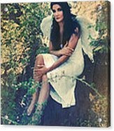 I Believe In Angels Acrylic Print