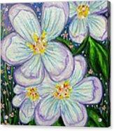 I Bloom With Courage Acrylic Print