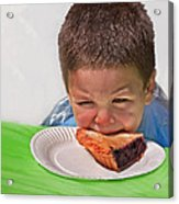 I Don't Want To - Pie Eating Contest Art Prints Acrylic Print