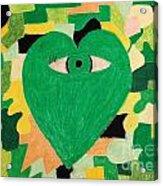 I Eye Love Green Acrylic Print
