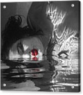 I Float On Red Acrylic Print