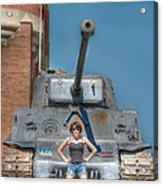 I Have A Tank.  Your Argument Is Invalid Acrylic Print