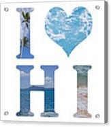 I Heart Hawaii On White Acrylic Print