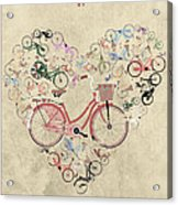 I Heart My Bike Acrylic Print by Andy Scullion