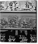 I Heart Ny In Black And White Acrylic Print