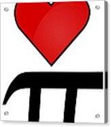 I Heart Pi Acrylic Print