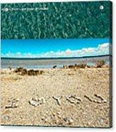 I Heart You Shores Of Lake Michigan Acrylic Print