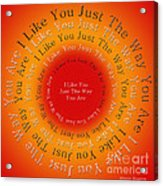 I Like You Just The Way You Are 2 Acrylic Print