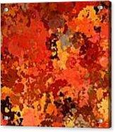 I Love Autumn Acrylic Print
