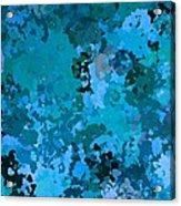 I Love Blue Acrylic Print