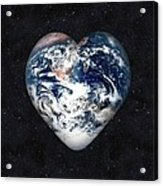 I Love Earth Acrylic Print