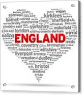 I Love England Acrylic Print