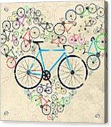 I Love My Bike Acrylic Print
