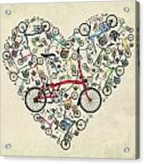 I Love My Brompton Acrylic Print by Andy Scullion