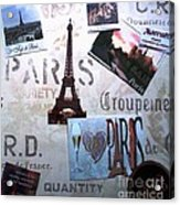 I Love Paris Acrylic Print