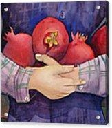 I Love Pomogranates Acrylic Print