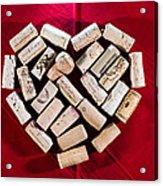 I Love Red Wine Acrylic Print