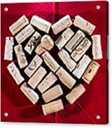 I Love Red Wine - Square Acrylic Print