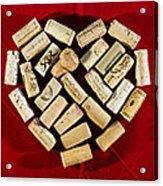 I Love Red Wine - Vertical Acrylic Print