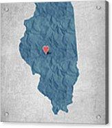 I Love Springfield Illinois - Blue Acrylic Print