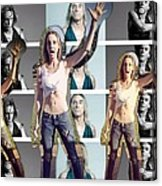 I Love You Iggy Pop Acrylic Print
