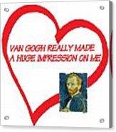 I Love Van Gogh Acrylic Print