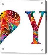 I Love You 17 - Heart Hearts Romantic Art Acrylic Print