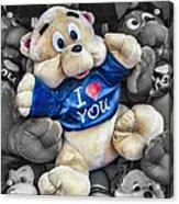 I Love You Acrylic Print by Jeff Swanson