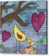 I Love You Acrylic Print by Julie Bull