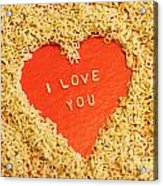 I Love You Acrylic Print by Lars Ruecker