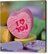 I Love You Acrylic Print