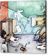 I Luv Grand-pa  Acrylic Print by Belen Jauregui