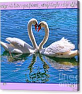 I Promise To Love You Poster By Diana Sainz Acrylic Print