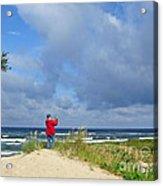 I See The Sea. Juodkrante. Lithuania Acrylic Print