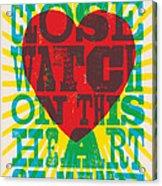 I Walk The Line - Johnny Cash Lyric Poster Acrylic Print