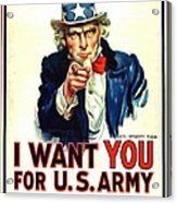 I Want You For U S Army Acrylic Print