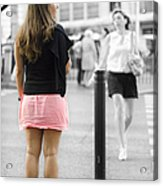 I Would Rather Wait For The Green Light Acrylic Print
