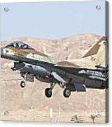 Iaf F-16c Jet Fighter Acrylic Print