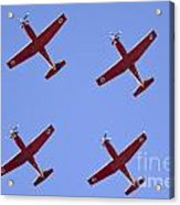 Iaf Flight Academy Aerobatics Team 4 Acrylic Print