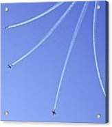 Iaf Flight Academy Aerobatics Team 5 Acrylic Print