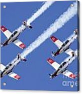 Iaf Flight Academy Aerobatics Team 6 Acrylic Print