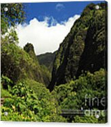 Iao Needle - Iao Valley Acrylic Print