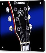 Ibanez Af75 Electric Hollowbody Guitar Headstock Acrylic Print