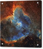 Ic 1805, The Heart Nebula In Cassiopeia Acrylic Print