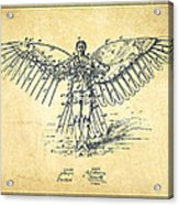 Icarus Flying Machine Patent Drawing-vintage Acrylic Print