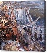 Ice Along The River Acrylic Print