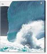 Ice And Surf II Acrylic Print by David Pinsent